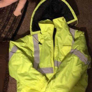 Erb XL class2 level 2 Safety Jacket EUC